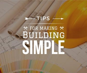 Building Tips blueprints on table