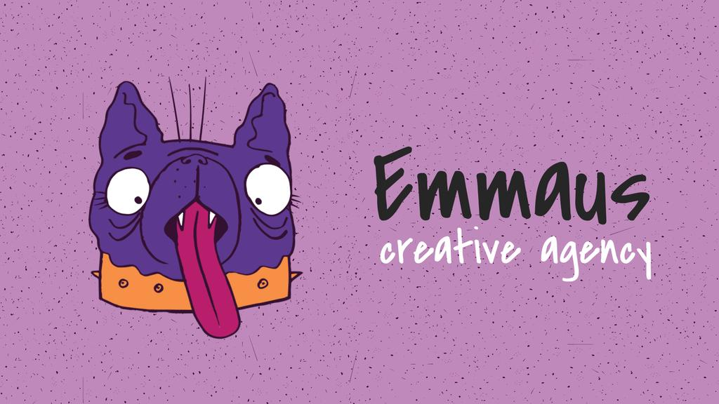 Silly Dog Showing Tongue on Purple | Full Hd Video Template — Crear un diseño