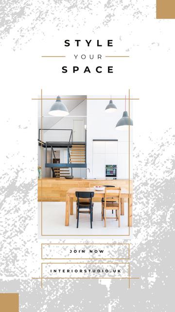 Modèle de visuel Modern Home kitchen interior - Instagram Story