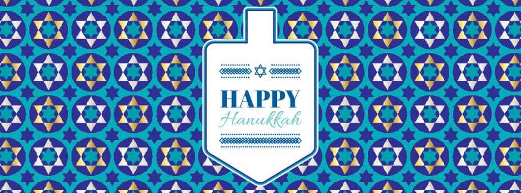 Happy Hanukkah greeting with Dreidel — Create a Design