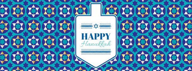 Plantilla de diseño de Happy Hanukkah greeting with Dreidel Facebook Video cover