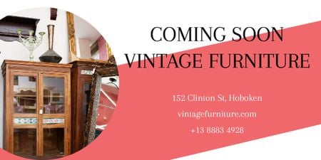Plantilla de diseño de Coming soon vintage furniture shop Image