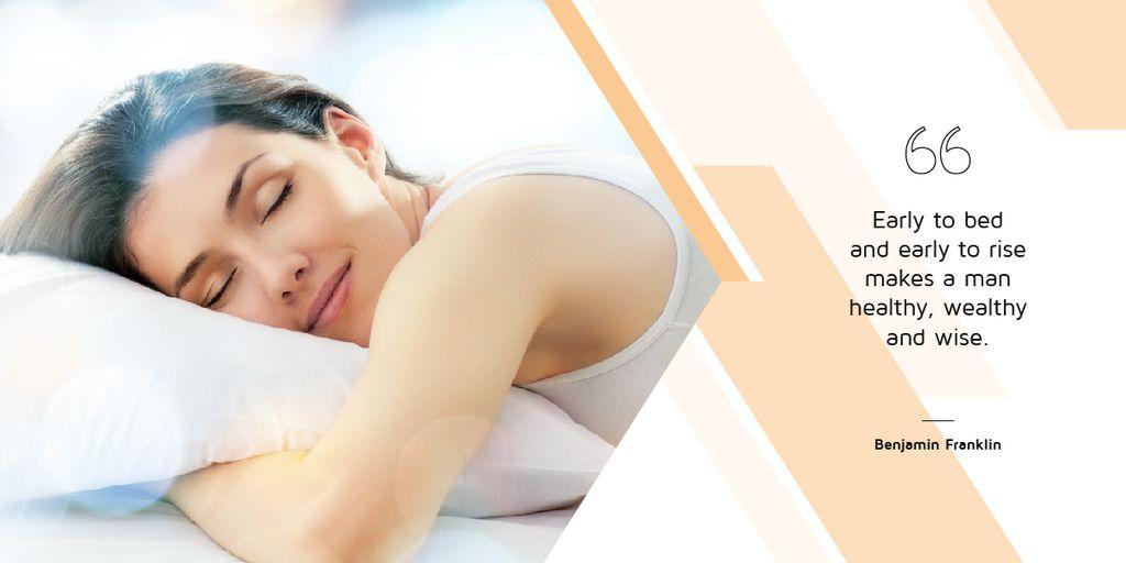 Woman sleeping in bed — Crear un diseño