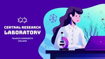 Laboratory Research Female Scientist Working on Laptop | Full Hd Video Template
