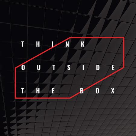 Designvorlage Think outside the box Citation für Instagram