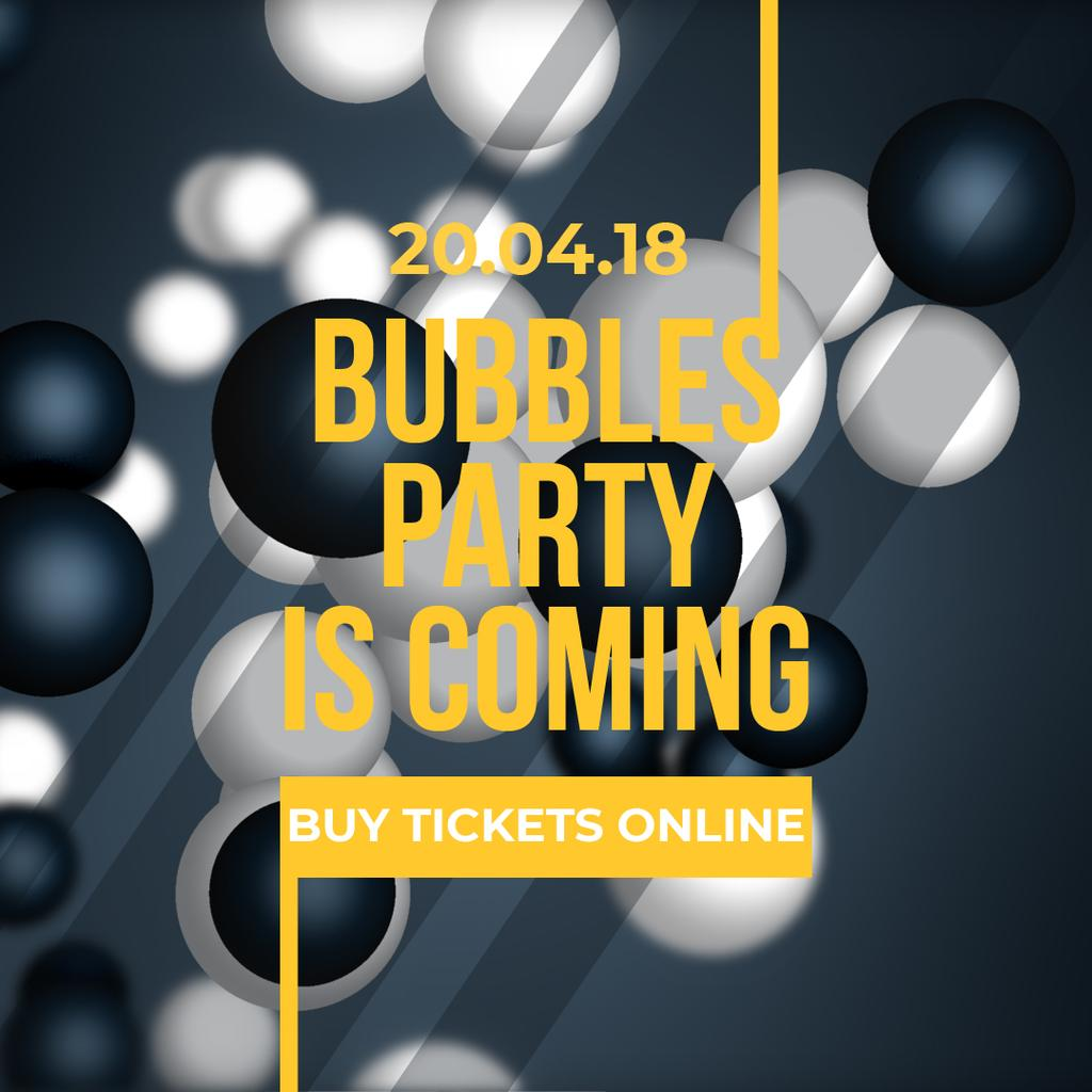 Glowing bubbles on dark background — Create a Design