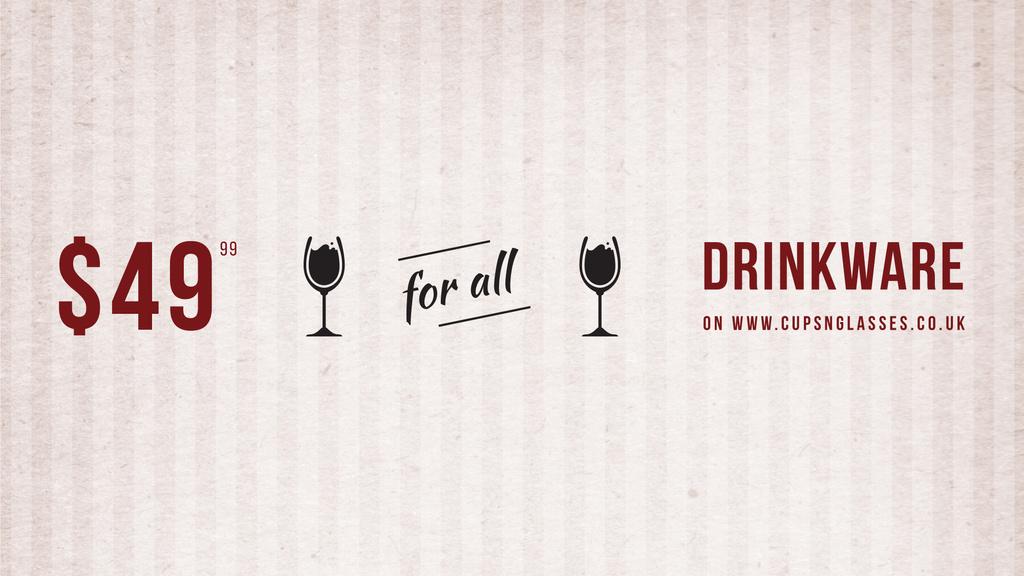 Drinkware Sale Glass with red wine — Modelo de projeto