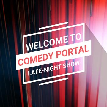 Comedy Show Annoucement with Red moving lines