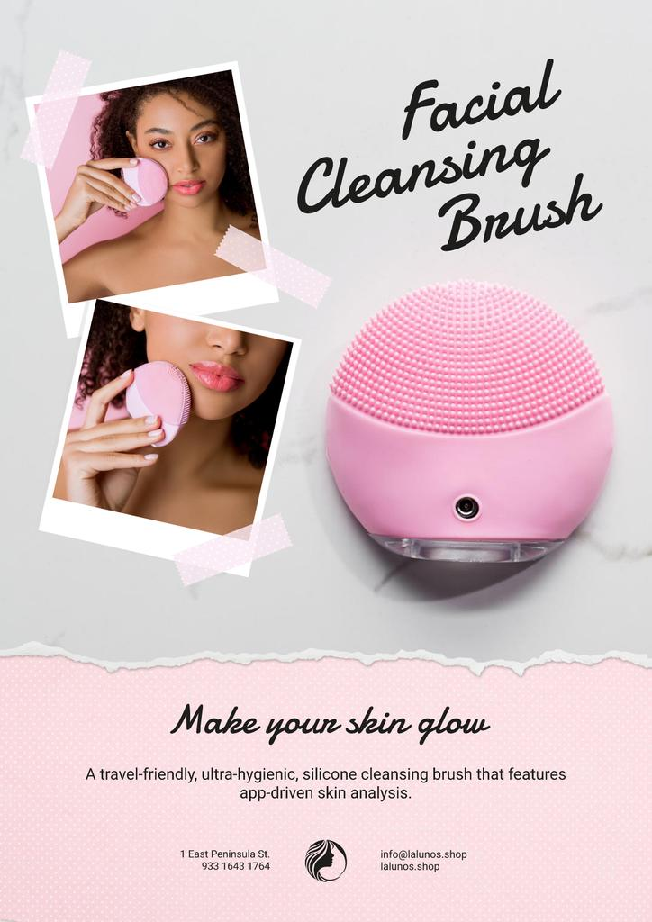 Special Offer with Woman applying Facial Cleansing Brush — Crear un diseño