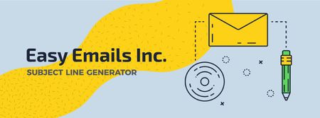 Plantilla de diseño de Easy Emails Inc. Subject Line Generator Facebook Video cover