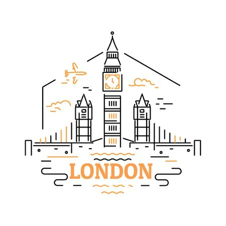 Plantilla de diseño de London famous travelling spots Animated Post