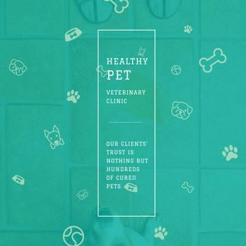 Healthy pet Veterinary Clinic ad