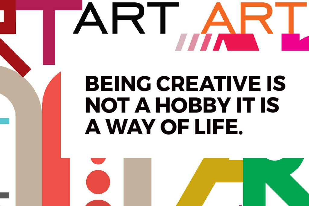Citation about how to be a creative — Modelo de projeto