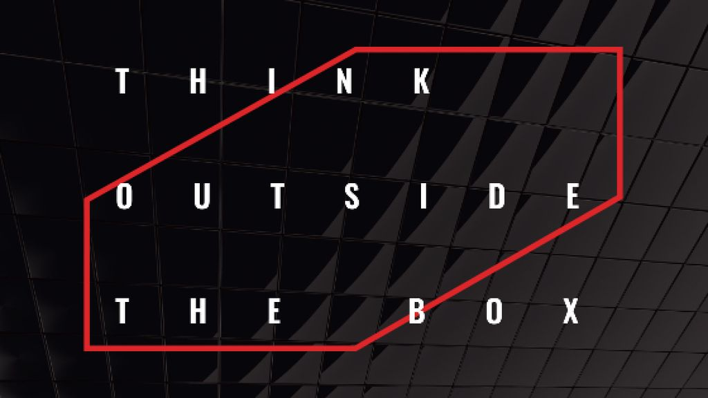 Think outside the box Quote on black tiles — Maak een ontwerp