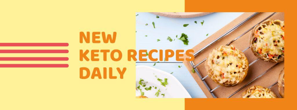 Stuffed Mushroom dish for keto recipe — Create a Design