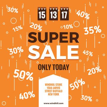 Super sale Ad on orange
