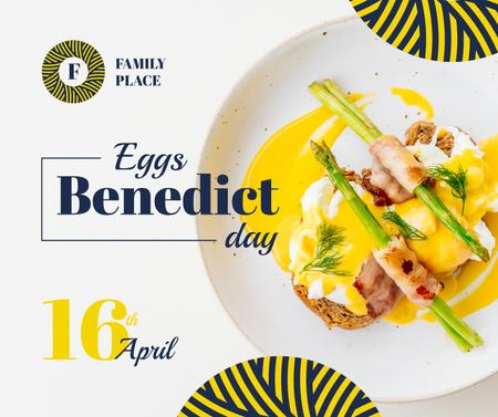 Ontwerpsjabloon van Facebook van Eggs Benedict day celebration