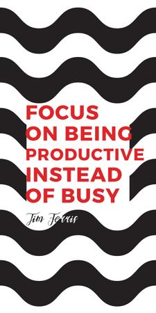 Productivity Quote on Waves in Black and White Graphicデザインテンプレート