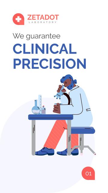 Template di design Medical Laboratory services overview Mobile Presentation