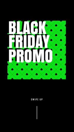 Ontwerpsjabloon van Instagram Story van Black Friday promo on green