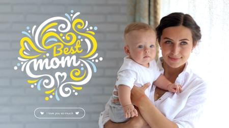 Template di design Mother's Day with Loving Mom Holding Child Full HD video