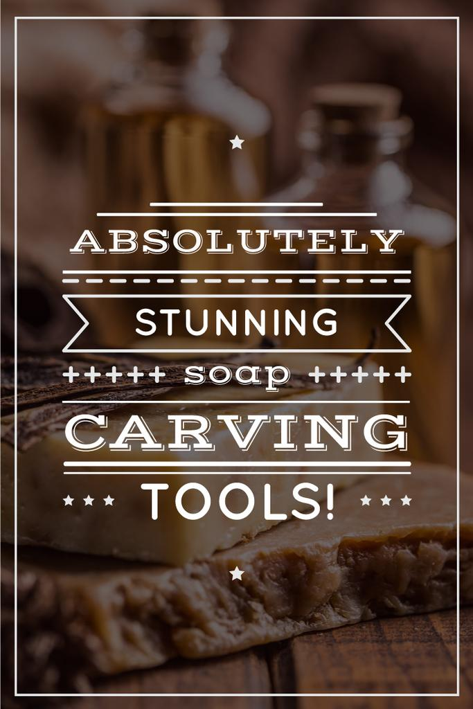 carving tools advertisement poster — Crear un diseño