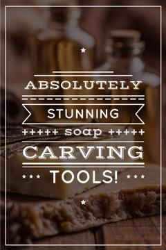 carving tools advertisement poster