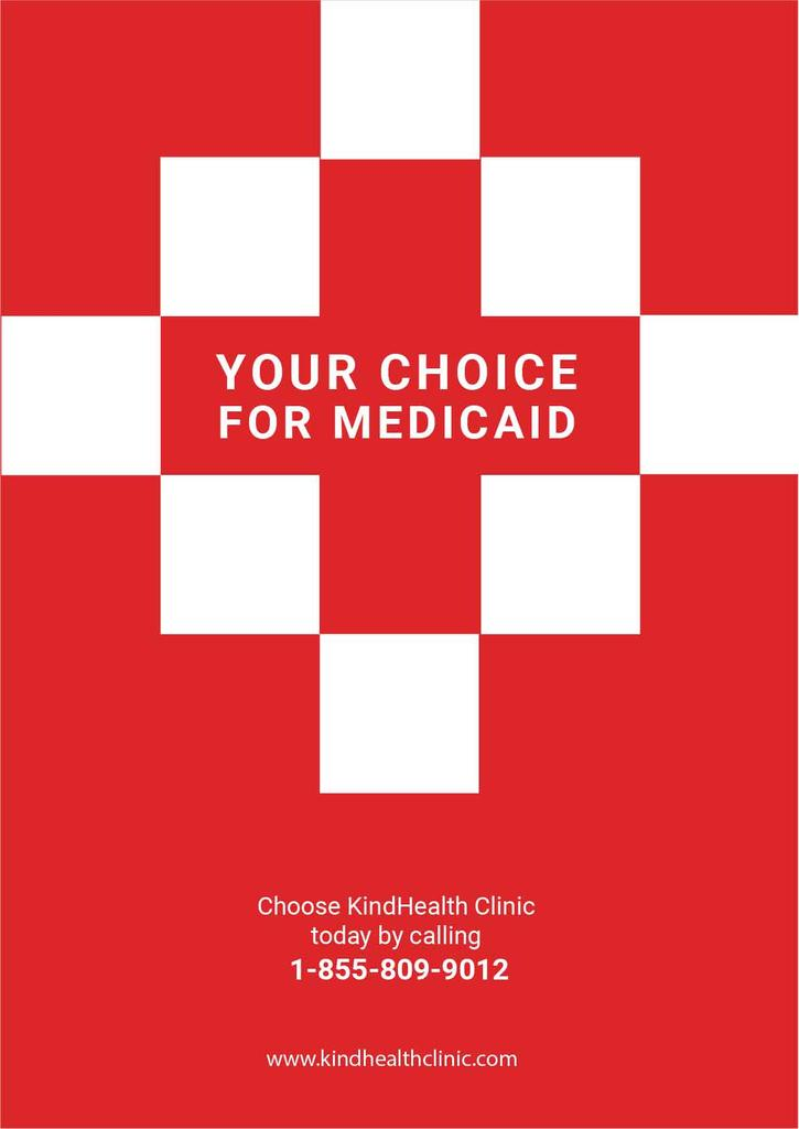 medicaid clinic red poster — Crea un design