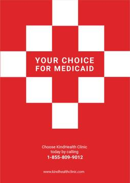 Medicaid Clinic Ad Red Cross | Poster Template