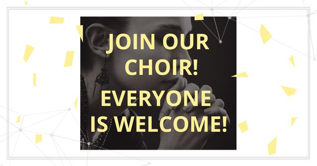Invitation to a religious choir with praying Woman Facebook AD Modelo de Design