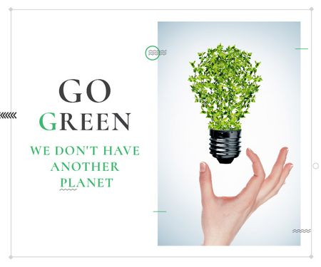 Plantilla de diseño de Citation about green planet Large Rectangle