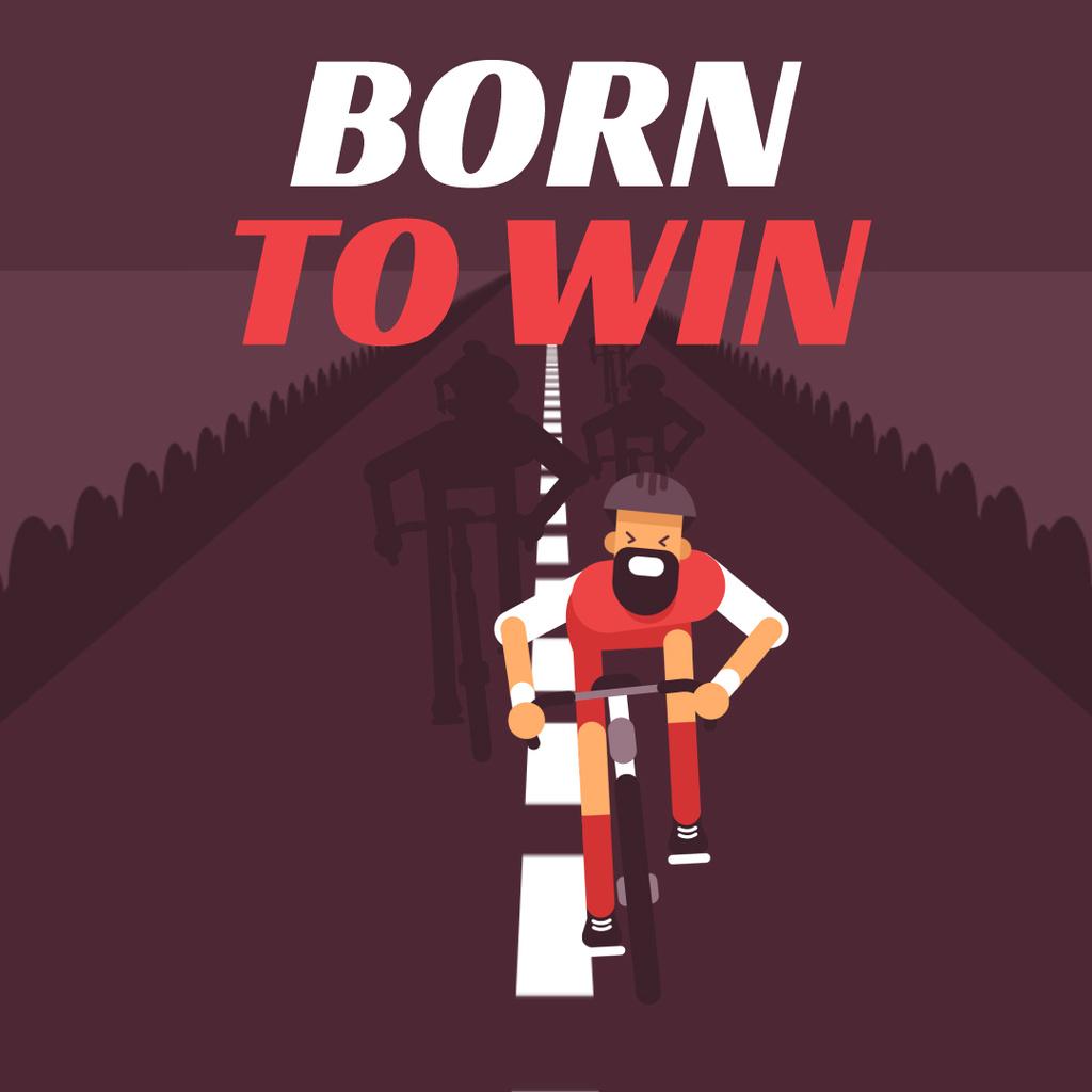 Cyclist Racing on Road — Crear un diseño