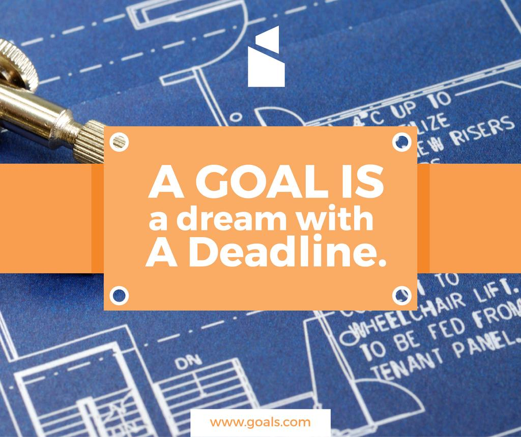 Goal motivational quote on blueprint — Створити дизайн