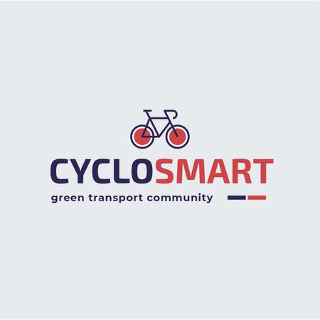Plantilla de diseño de Green Transport Bicycle Icon Logo