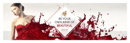 Citation for girls about beauty Email header Design Template