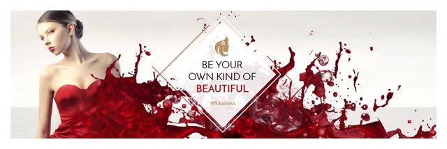 Citation for girls about beauty Email header Tasarım Şablonu