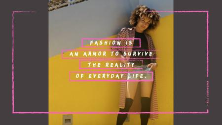 Plantilla de diseño de Fashion Quote with Stylish Young Woman Full HD video