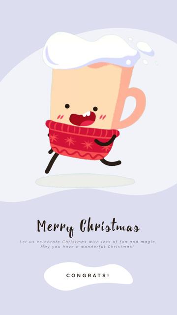 Plantilla de diseño de Running Christmas cup of Cocoa Instagram Video Story