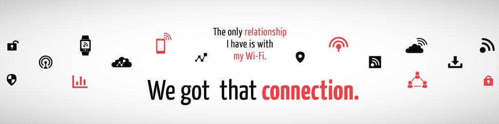 Plantilla de diseño de Wi-fi connection Ad with icons Twitter