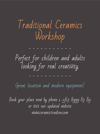 Plantilla de diseño de Traditional Ceramics Workshop promotion Poster US