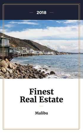 Szablon projektu Real Estate Offer Houses at Sea Coastline Book Cover