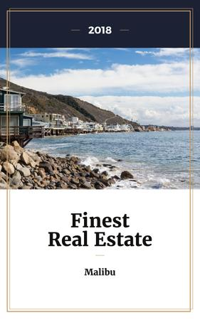 Ontwerpsjabloon van Book Cover van Real Estate Offer Houses at Sea Coastline