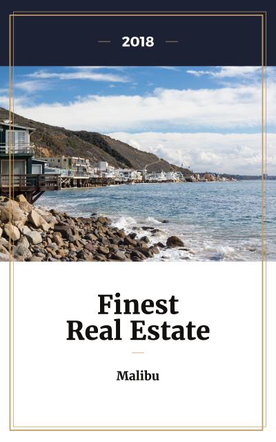 Real Estate Offer Houses at Sea Coastline Book Cover Modelo de Design