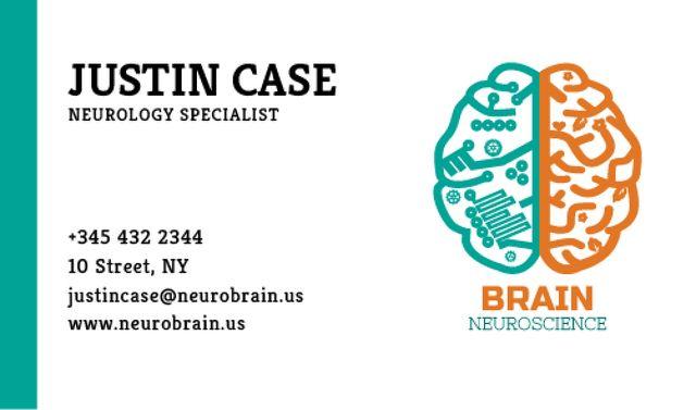 Neurology Specialist Services Offer Business card – шаблон для дизайна