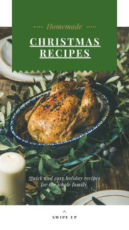 Template di design Christmas Recipe Roasted Whole Turkey Instagram Story