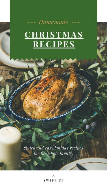 Designvorlage Christmas Recipe Roasted Whole Turkey für Instagram Story