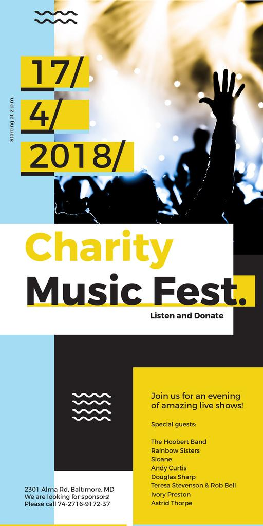 Charity Music Fest Invitation Crowd at Concert — Create a Design