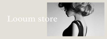 Modèle de visuel Fashion Store Ad with Attractive Woman - Facebook cover
