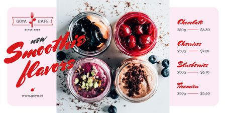 Modèle de visuel Cafe Offer with Jars with Fresh Smoothies - Twitter
