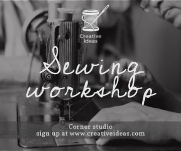 Sewing workshop advertisement